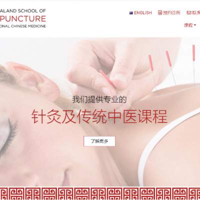 A Chinese website has been launched by Acupuncture School