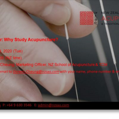 Online Seminar: Why Study Acupuncture?